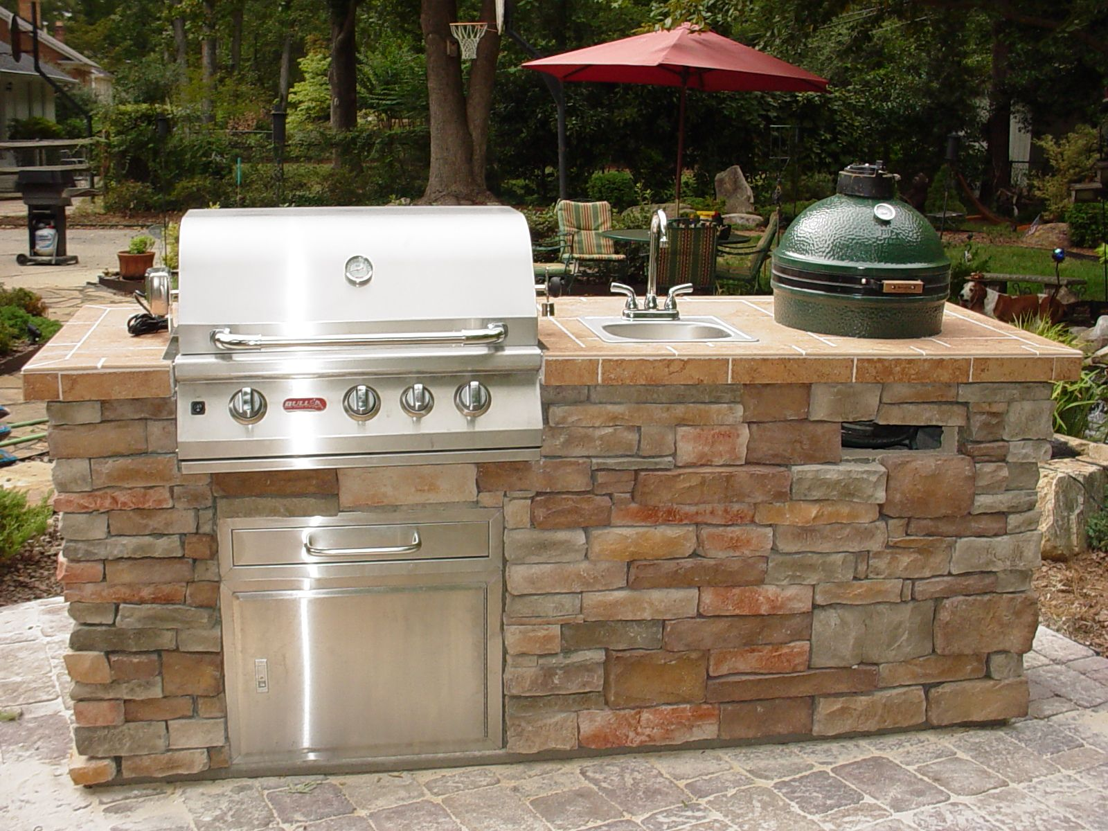 outdoor kitchens outdoor kitchen ideas Big Green Egg Outdoor Kitchen Ideas backyard kitchen big egg