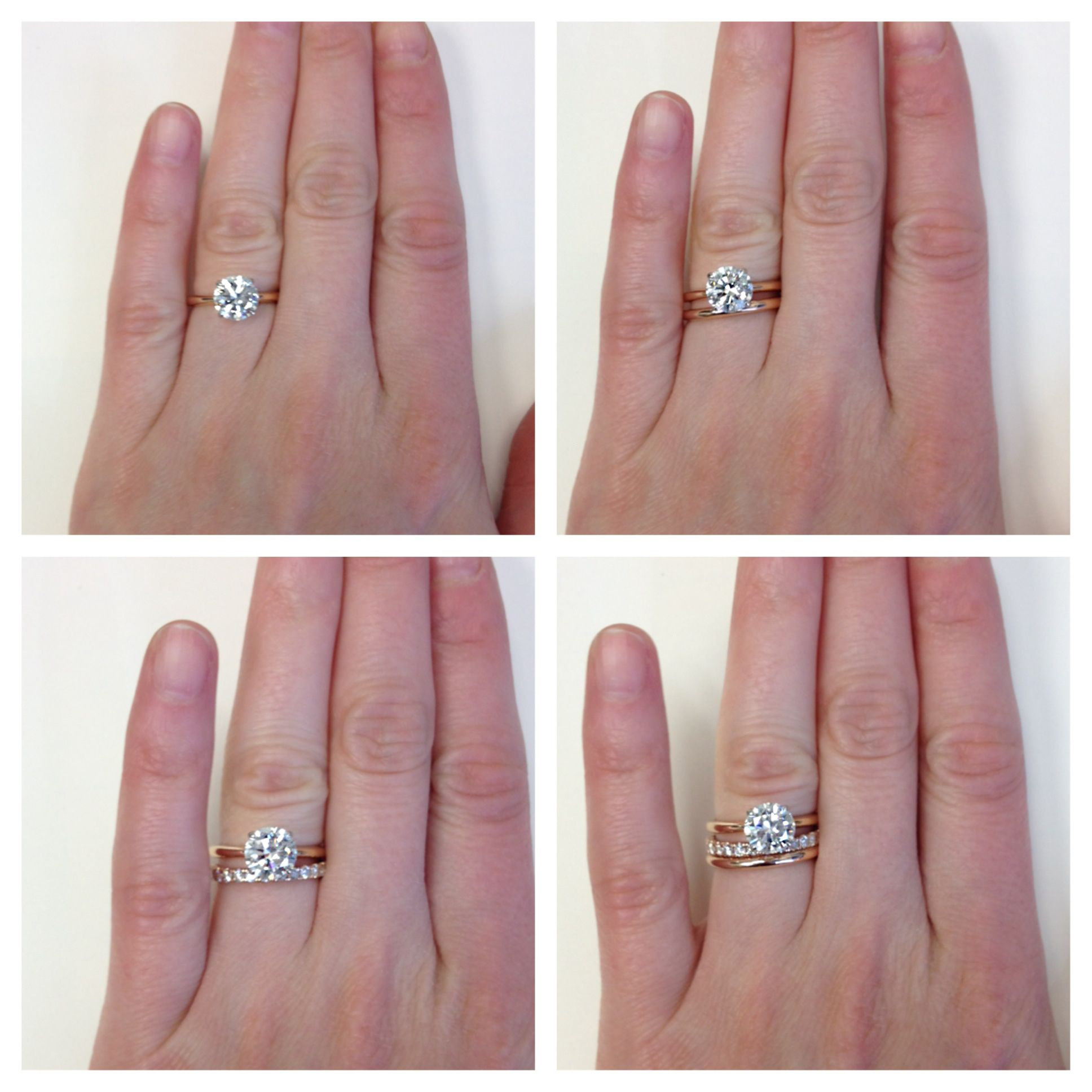 wedding ring with band Types of ladies wedding rings how fun to mix and match