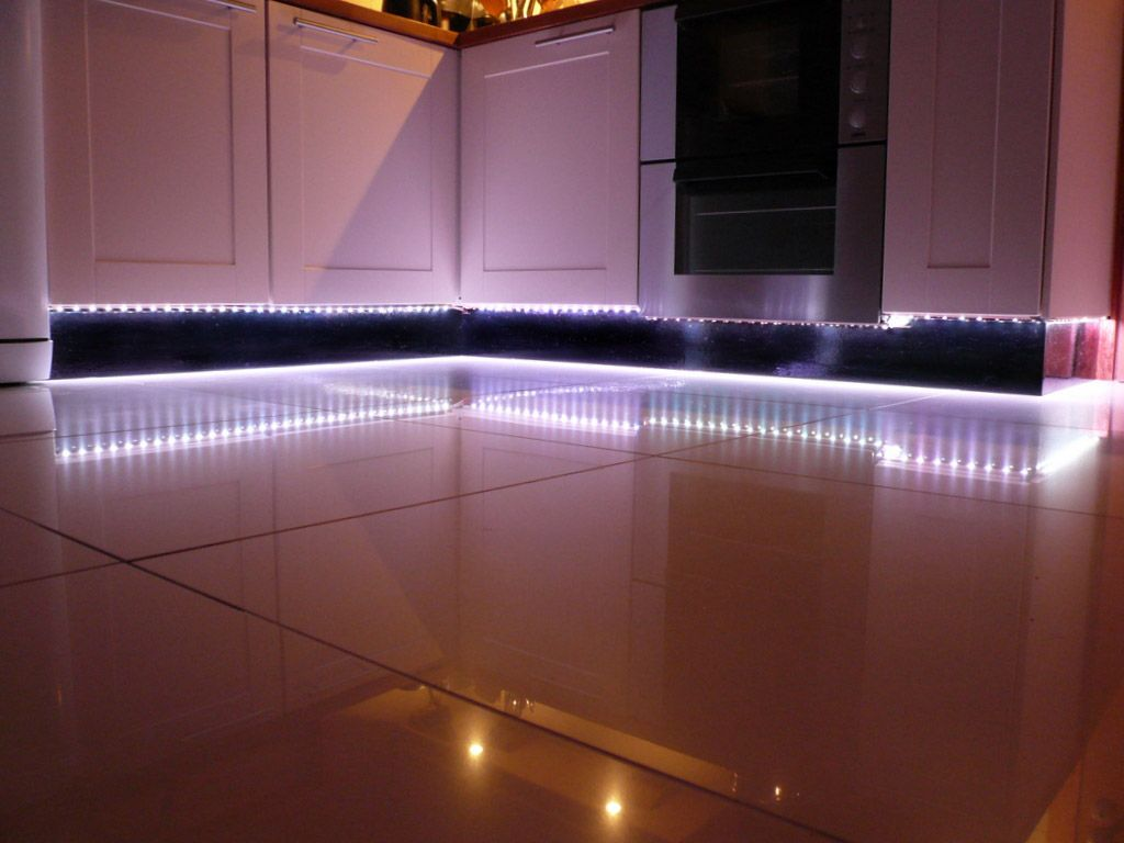 lighting under cabinet kitchen lighting Cool White LED Strip Lights look amazing as plinth lights in the kitchen Good Kitchen Under Cabinet