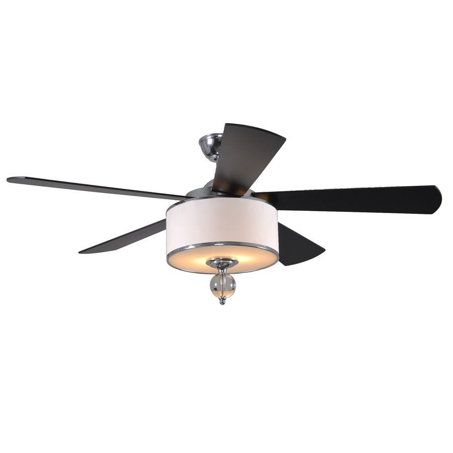 kitchen fan light Shop allen roth 52 in Victoria Harbor Polished Chrome Ceiling Fan with Light Kit