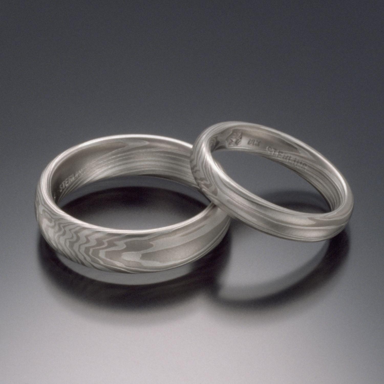mokume gane wedding bands
