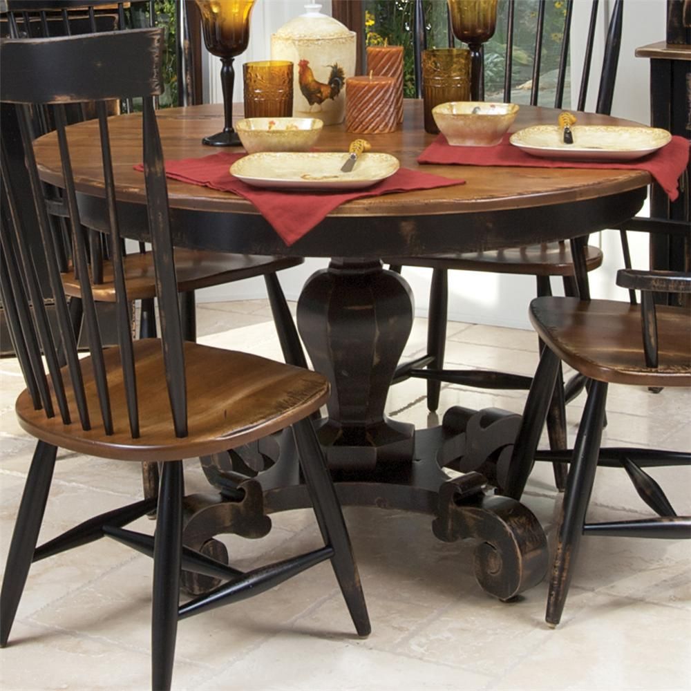 two tone kitchen table Customizable Round Dining Table by Canadel Two tone with fun details on the legs