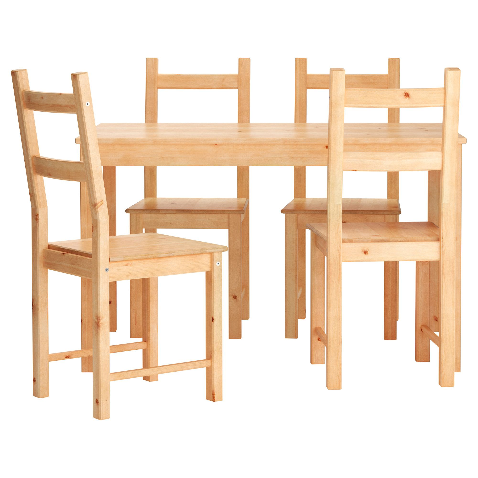 chairs for kitchen table IKEA INGO IVAR Table and 4 chairs Solid pine a natural