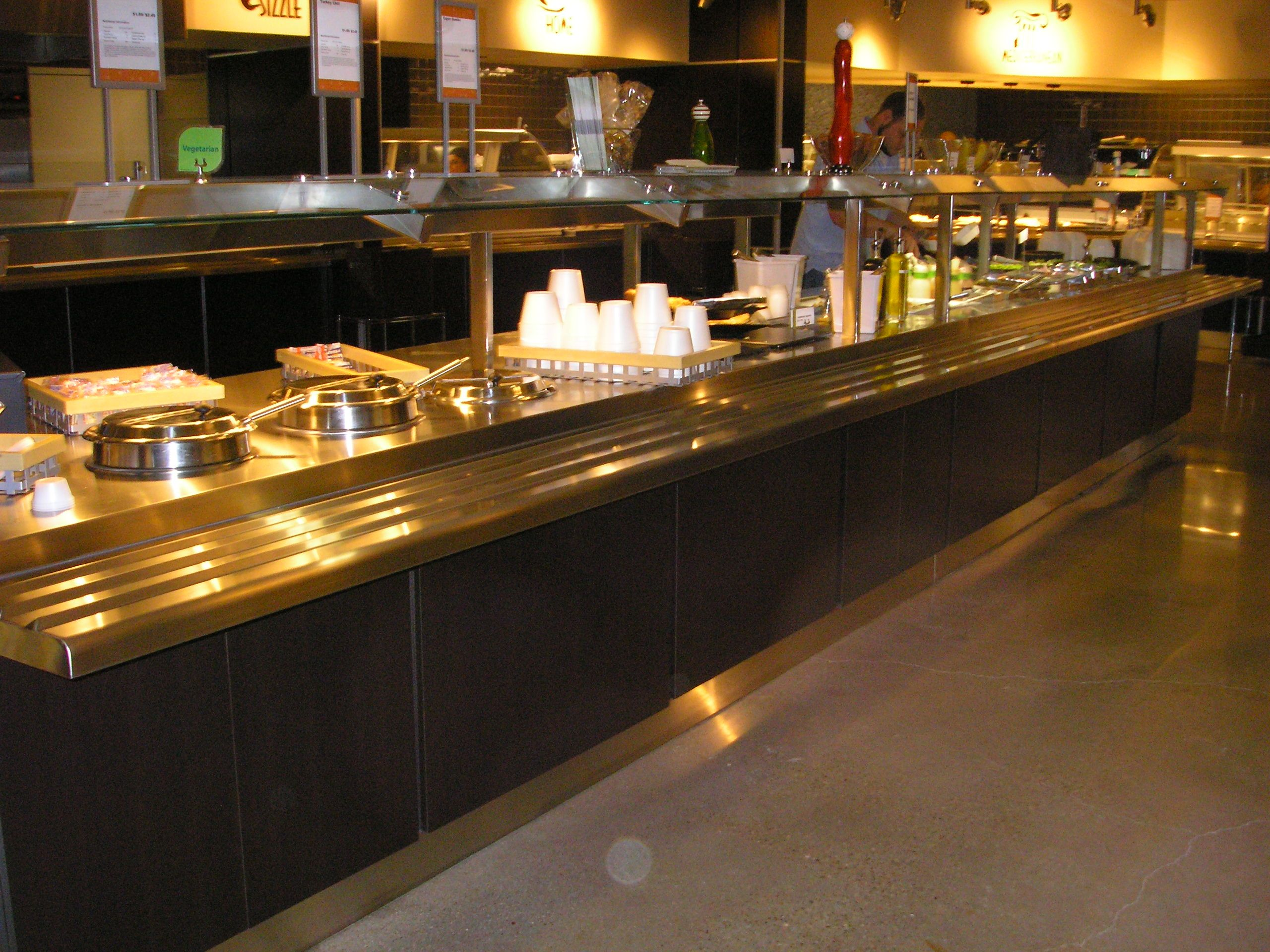 kitchen design commercial kitchen design Furniture Glamorous Small Restaurant Kitchen Design With Classy Long Rectangular Serving Place For Food