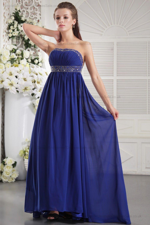 blue wedding dresses chiffon blue bridesmaid dress
