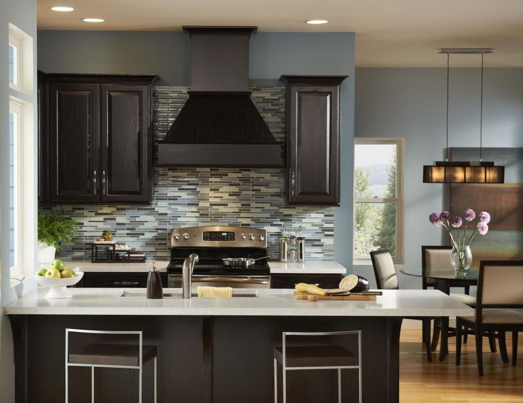 dream kitchen different color kitchen cabinets Top Modern Kitchen Colors with Dark Cabinets
