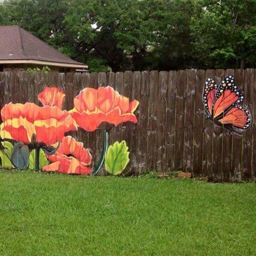 Medium Of Diy Fence Garden
