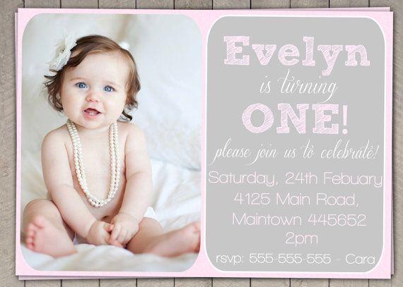 Simple 1st birthday invitations invitationswedd girls 1st birthday invites gallery invitation templates free stopboris Images