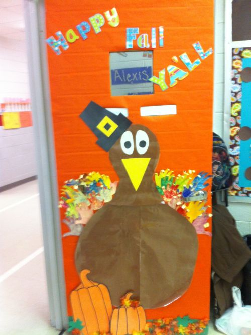 Medium Of Thanksgiving Door Decorations