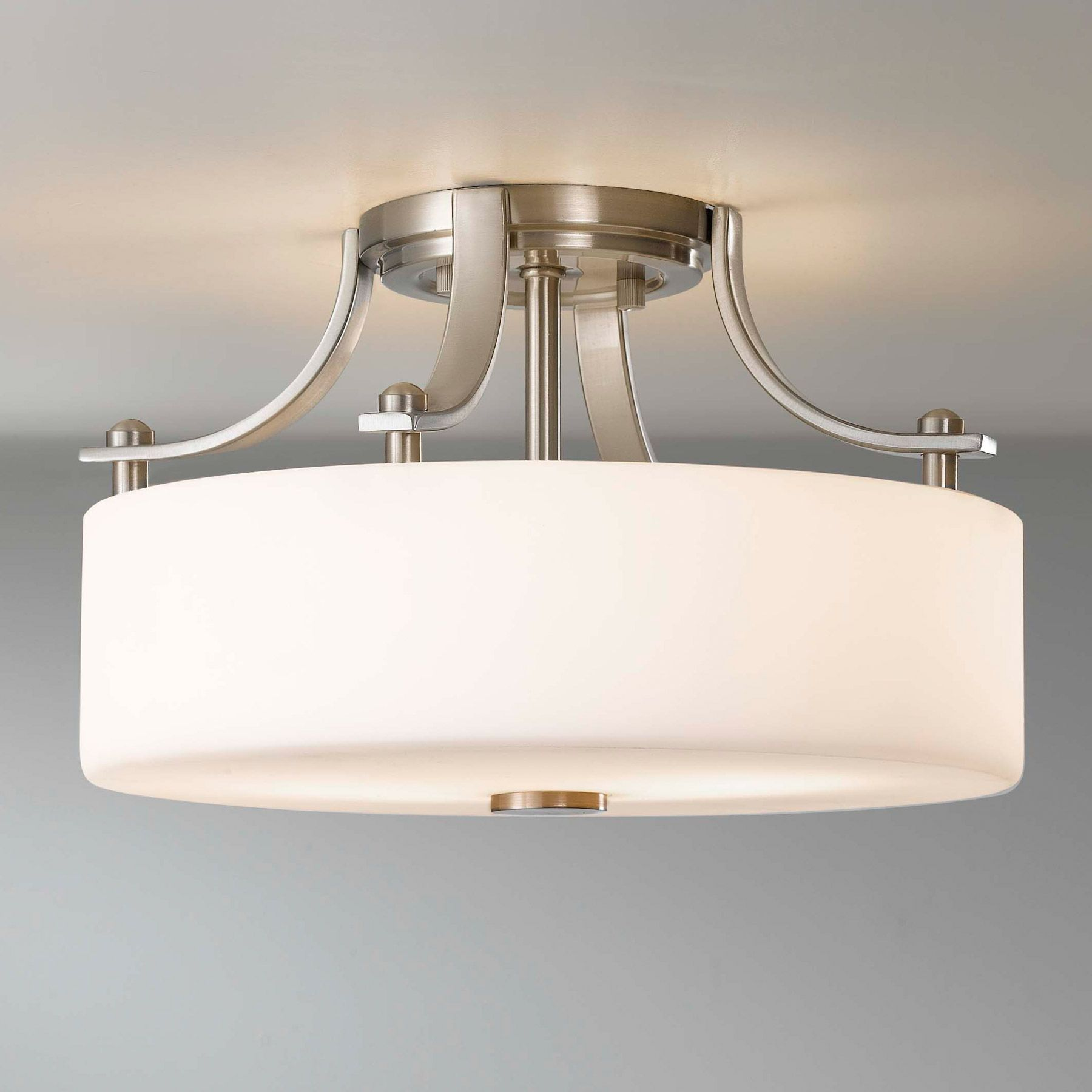 flush mount kitchen lighting White FlushMount Light Fixture