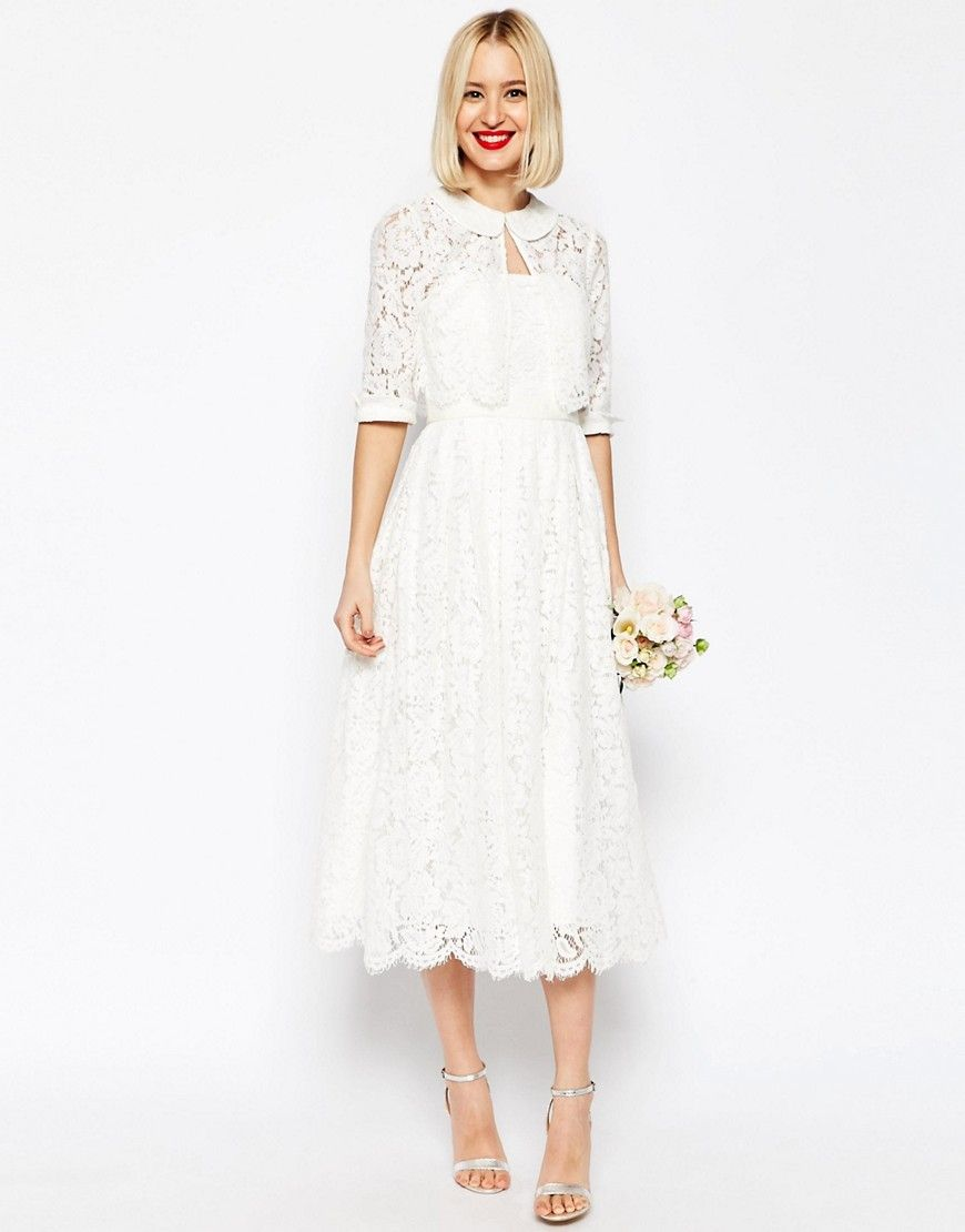 midi wedding dress 22 second wedding dresses to change into for your reception