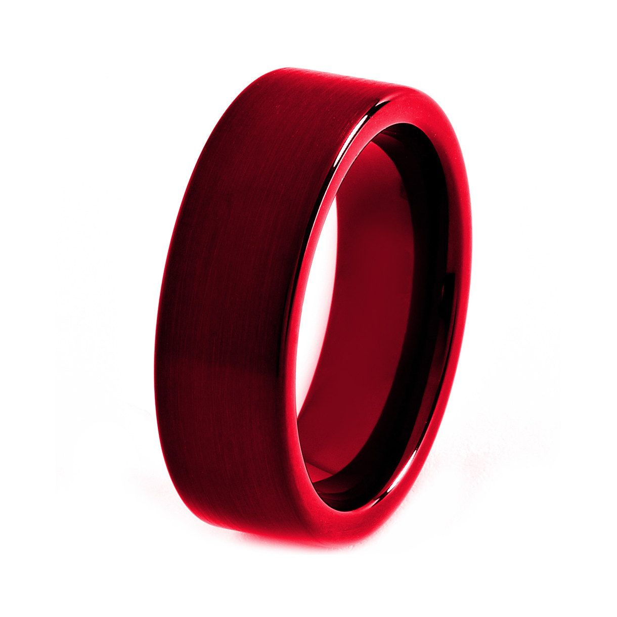 mens ceramic wedding bands Black Tungsten Ring Red Men Tungsten Rings Red by GiftFlavors 77