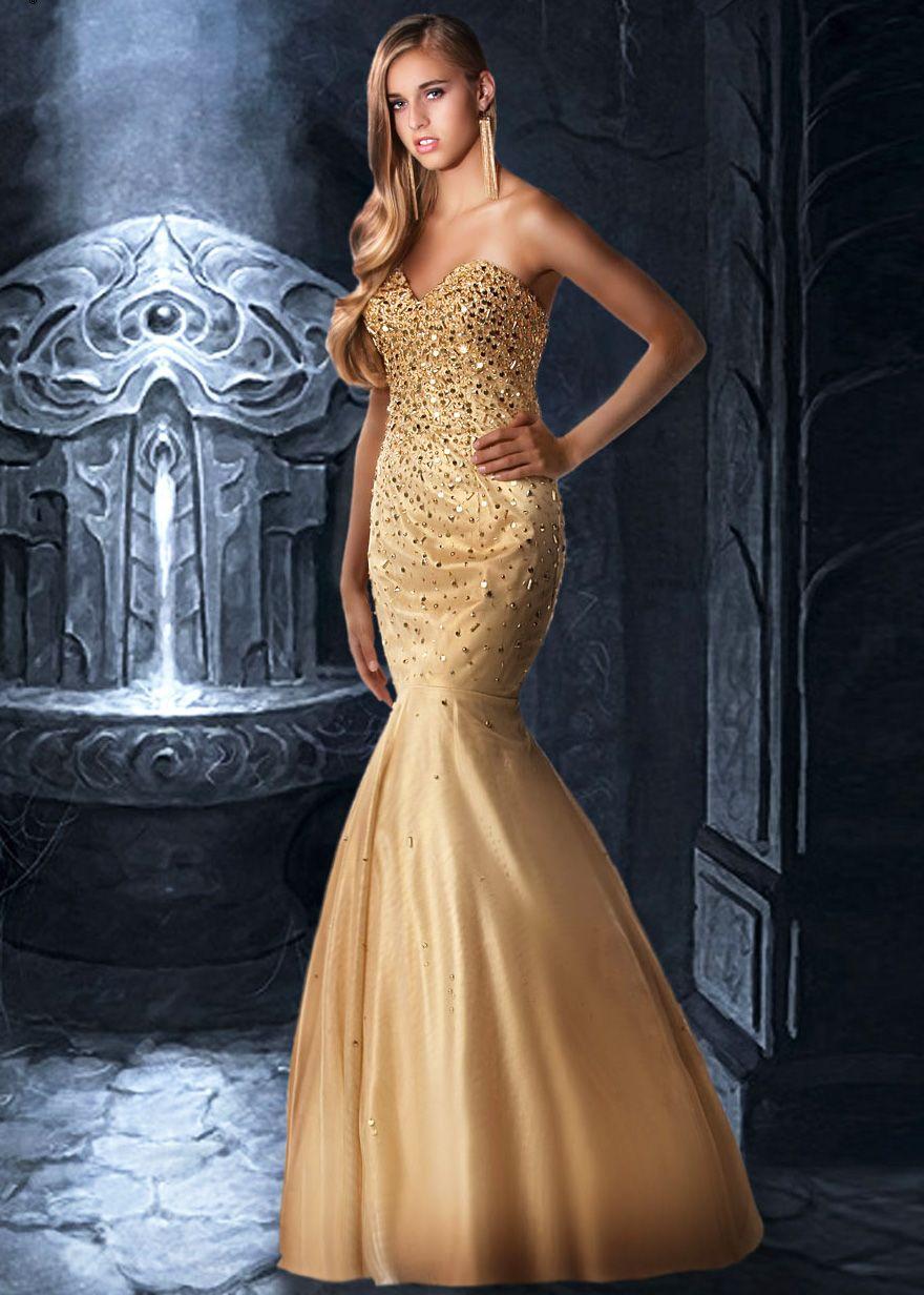 gold dress for wedding gold mermaid wedding dress