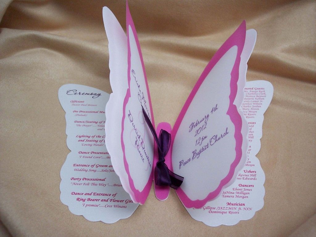 butterfly wedding invitations wedding invited butterfly shaped