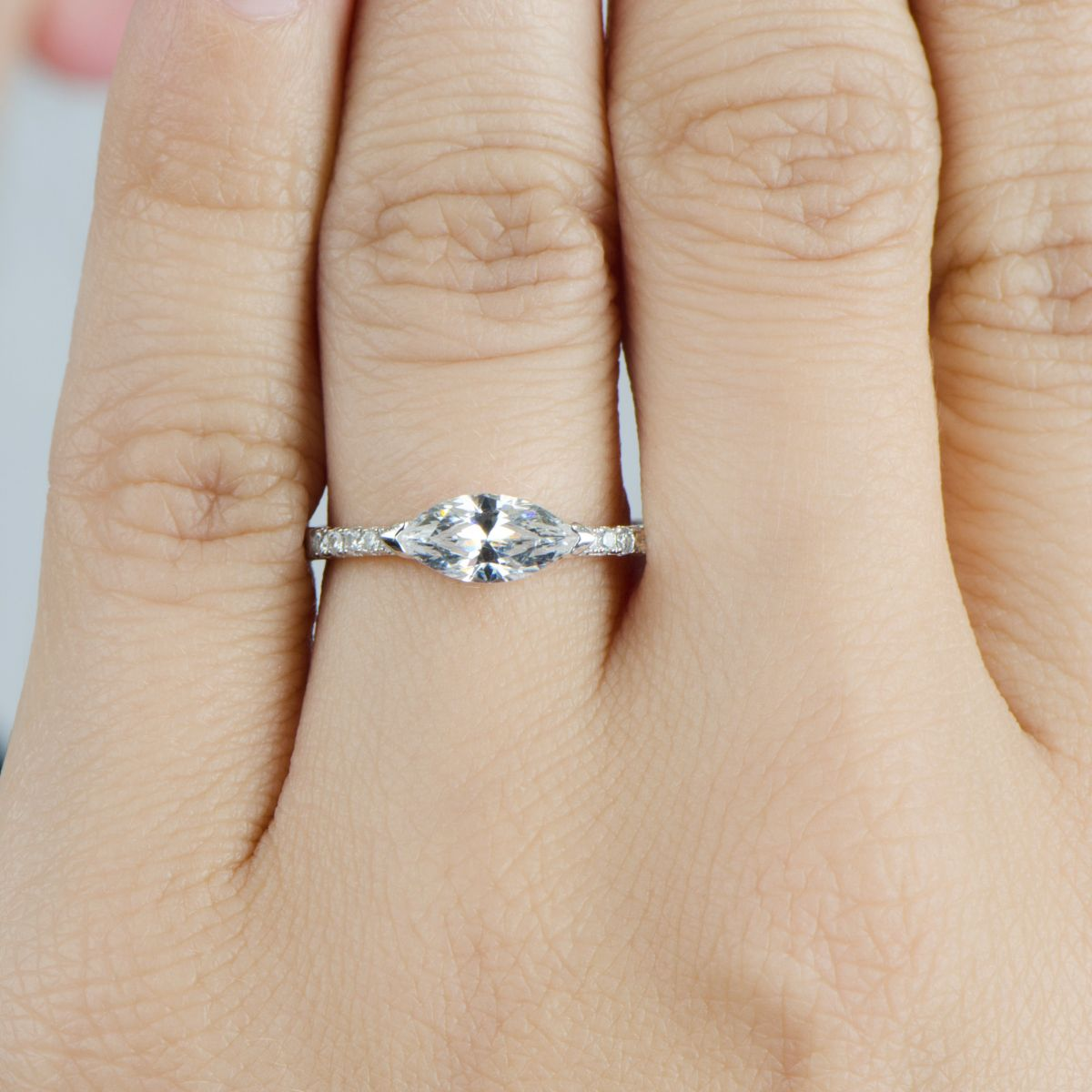 marquee wedding ring marquee rings Contrary to what many might think a marquise diamond wedding ring is rings Pinterest Wedding Wedding ring and Marquise diamond
