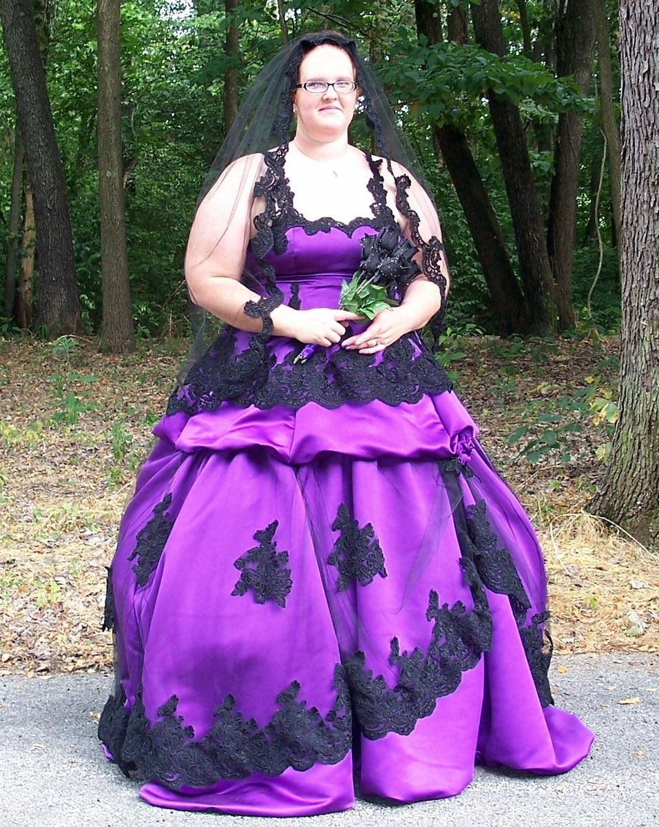 purple wedding dresses plus size purple gothic wedding dress Wedding Dresses designs