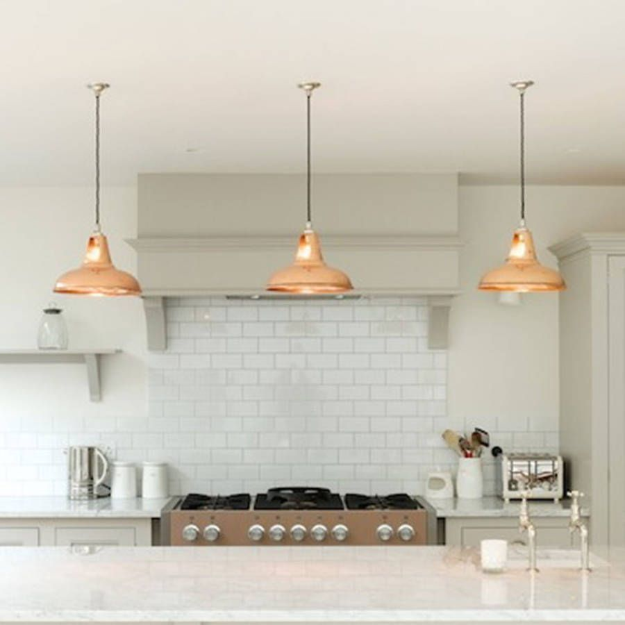 pendant kitchen lights Coolicon Industrial Pendant Light Polished