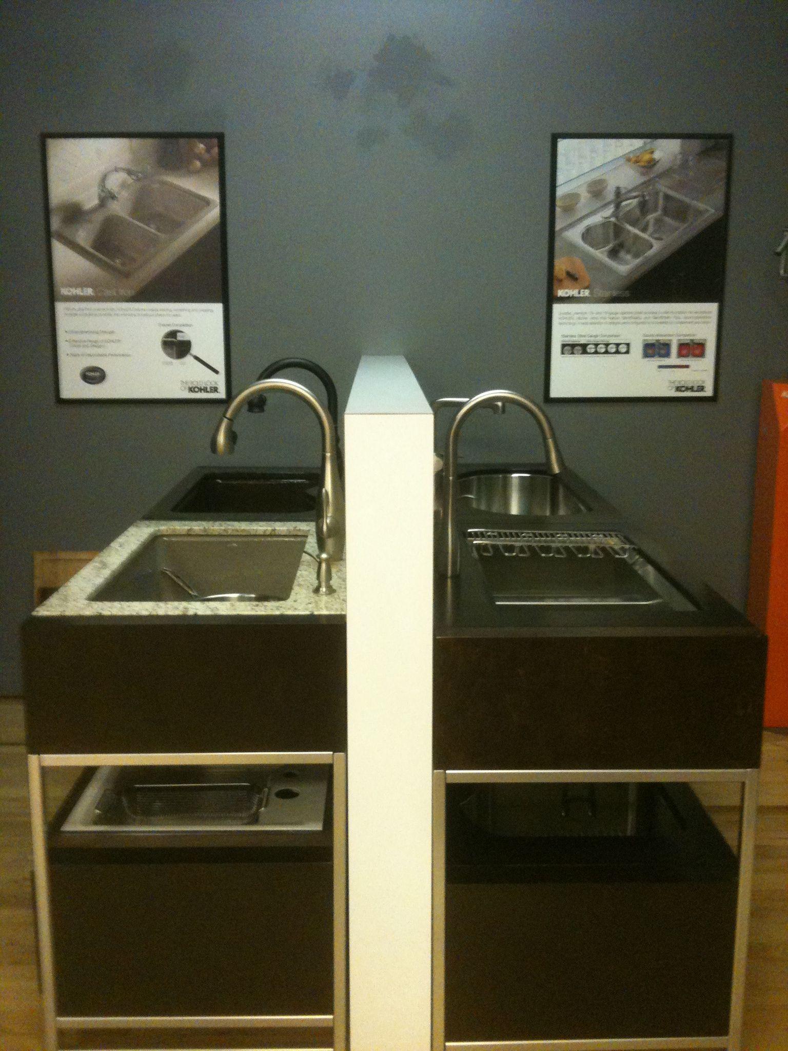 kitchen sinks denver Kohler Kitchen Sink Displays