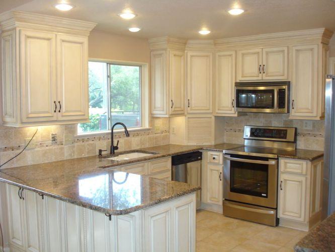 corian countertops corian kitchen countertops 4 Day Cabinets white cabinets granite Corian countertop tile backsplash and flooring