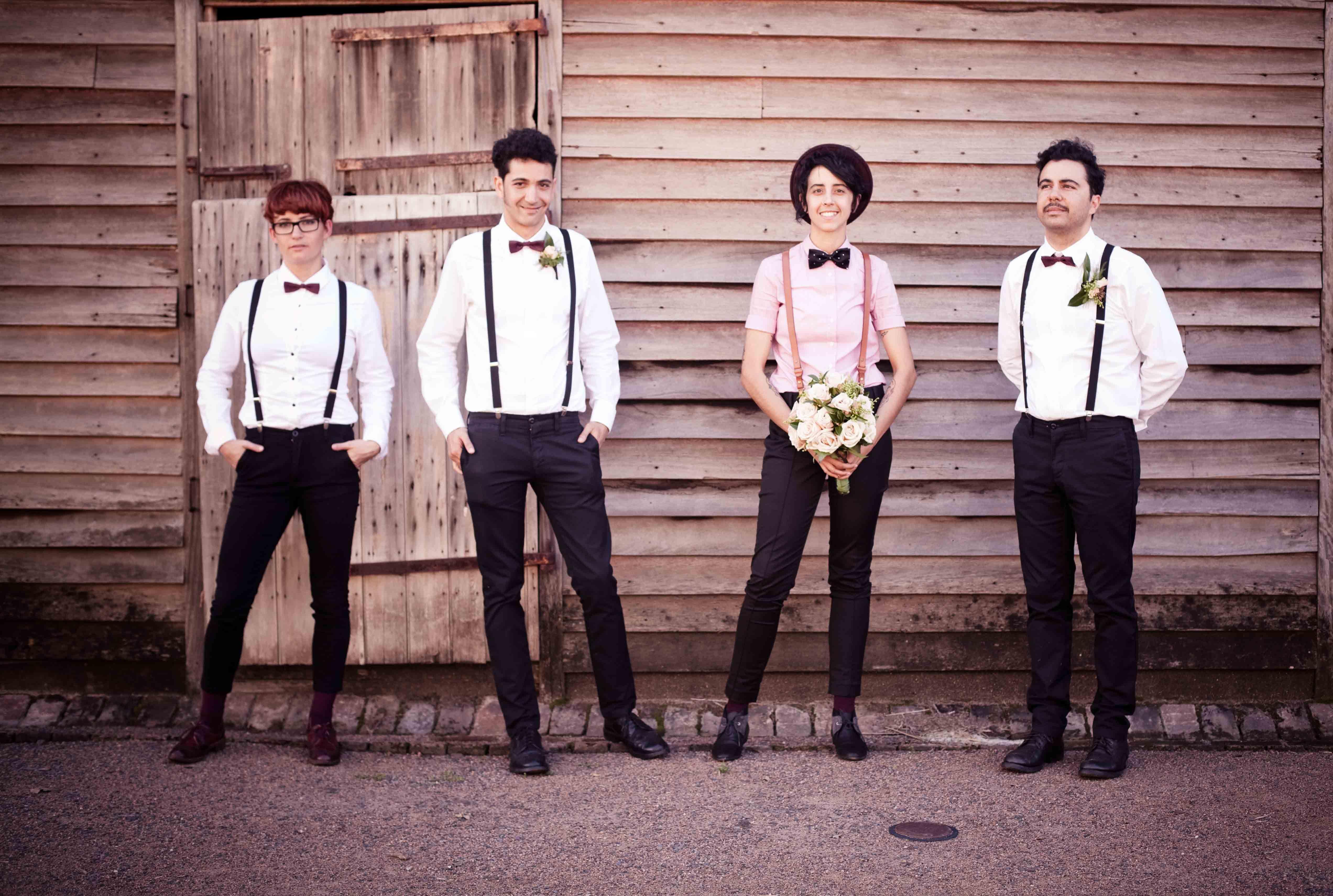 lesbian wedding ideas Casual wedding attire idea for M
