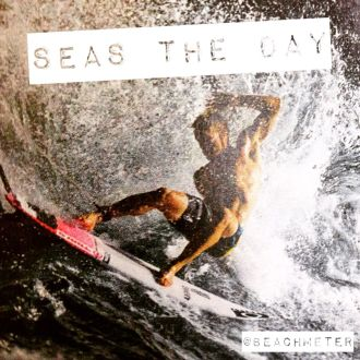 Seas the day with surfer in big waves by http://beachmeter.com
