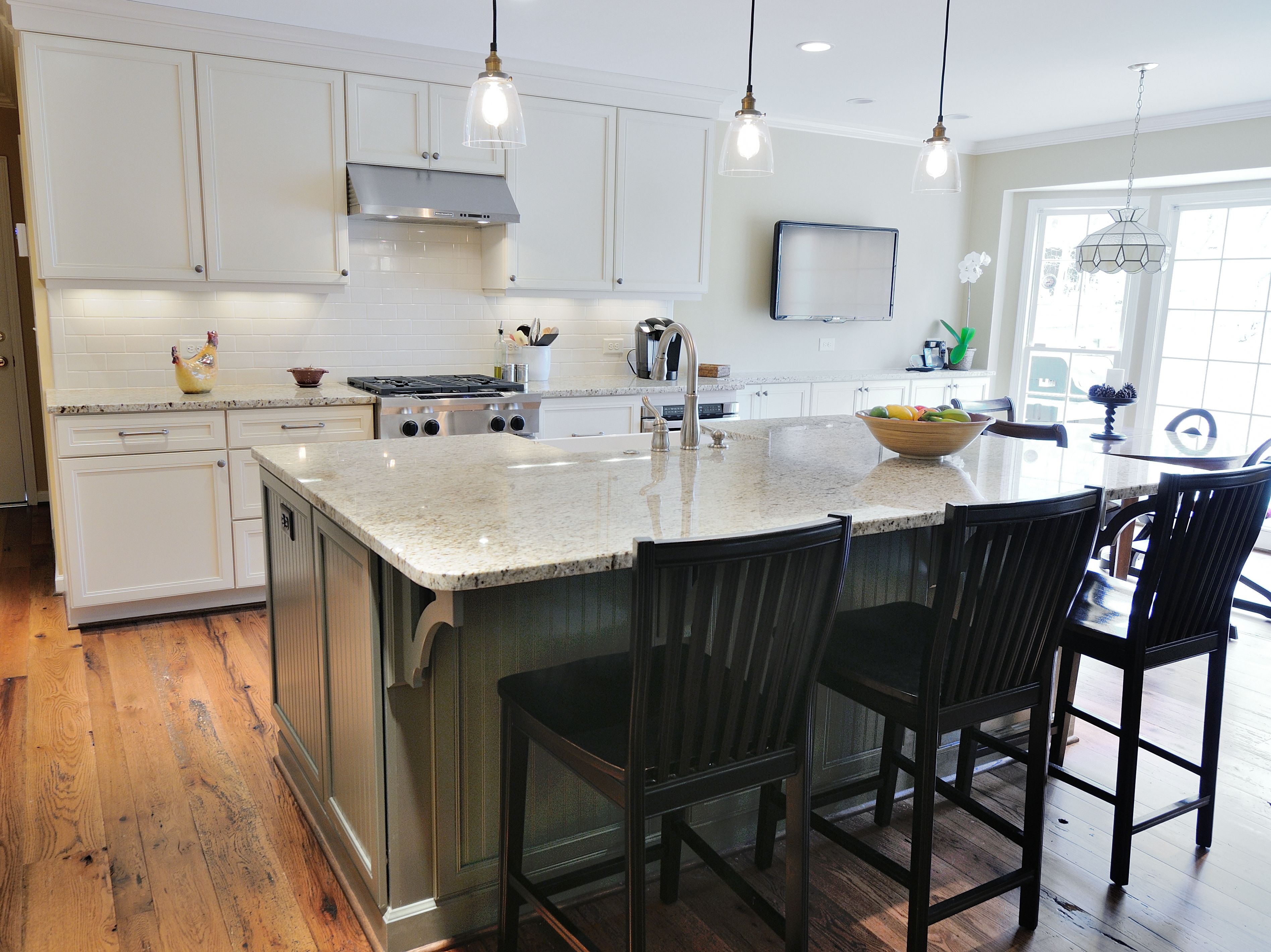 kitchen colonial kitchen design Giallo Ornamental Granite Countertop by Atlanta Kitchen