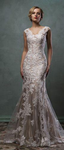 champagne colored wedding dresses amelia sposa champagne underly lace wedding dress alba