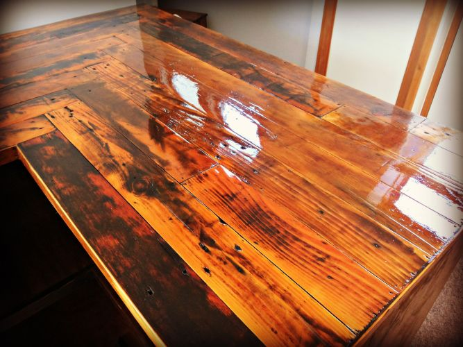 pallet countertop inexpensive kitchen countertops Kitchen Countertop made with reclaimed pallet wood cabinets