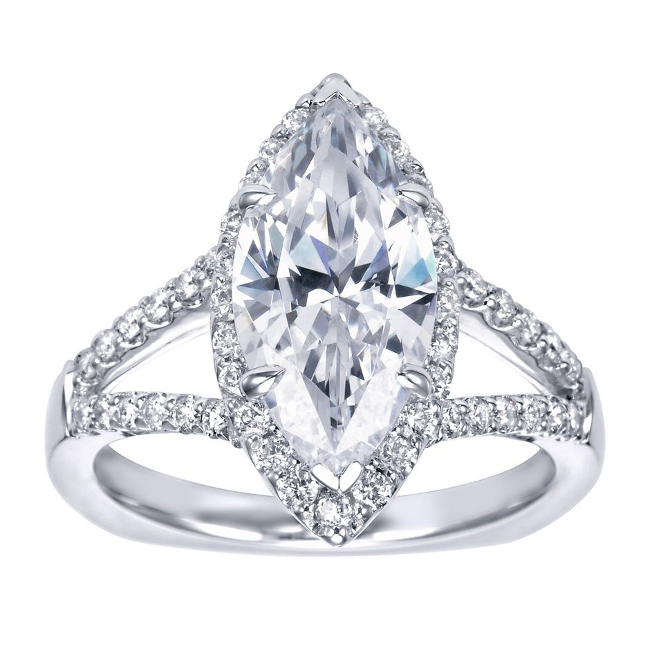 marquee wedding ring marquee shaped engagement ring Halo Engagement Ring Setting Marquise Cut 4 Gerry The Jeweler