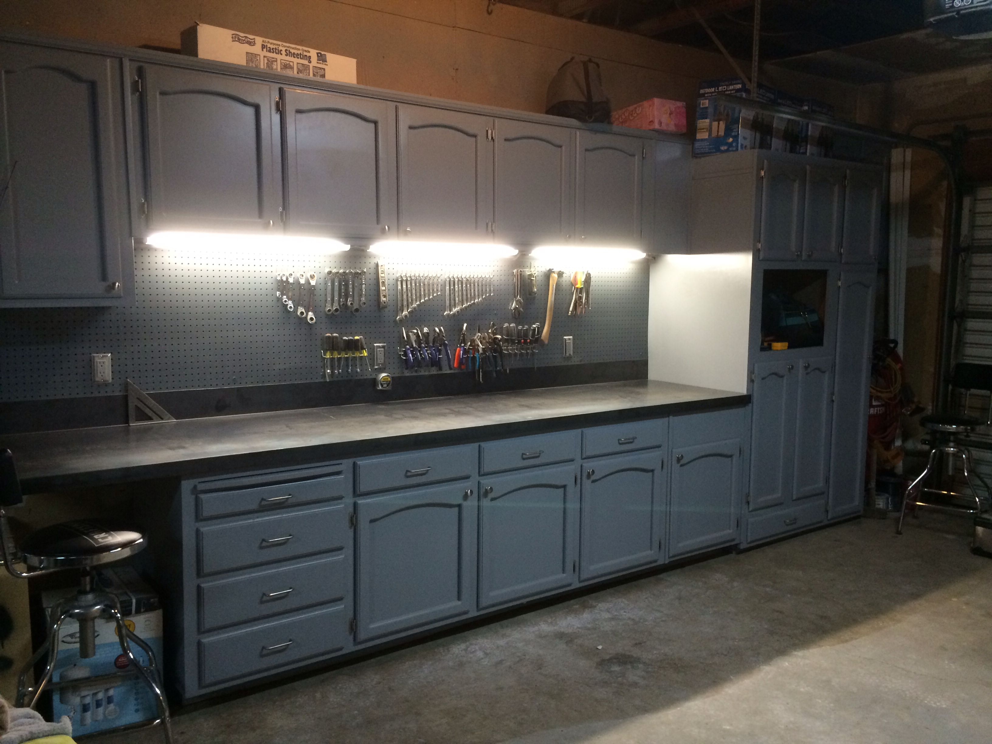 refurbished kitchen cabinets Refurbished kitchen cabinets for the ultimate work bench