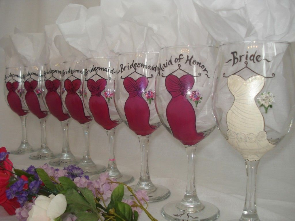 cute bridal shower presents wedding shower gift ideas Why drink out of a boring plain wine glass You can order these custom glasses Ideas For GiftsParty