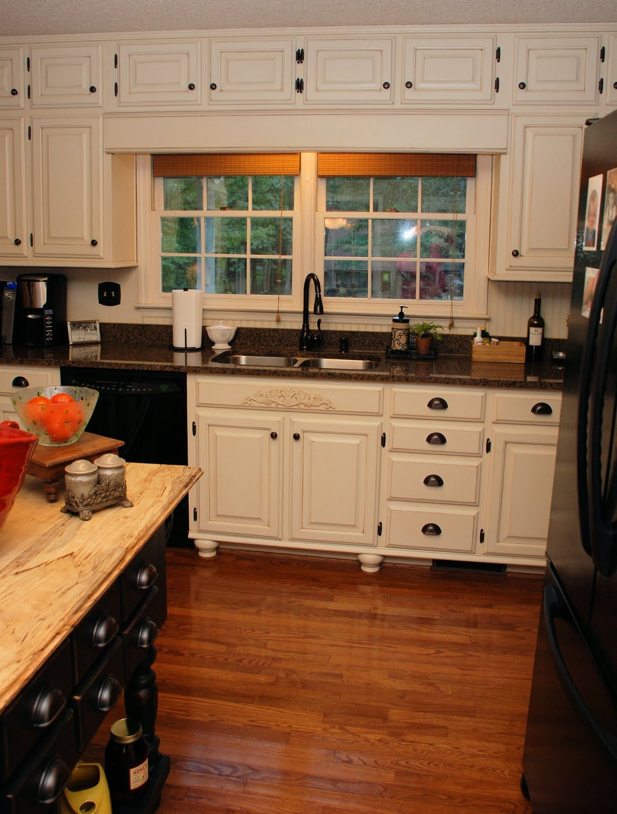 antique white kitchen cabinets with black appliances kitchen cabinets white 17 Best images about painted kitchen cabinets on Pinterest Antique white kitchens Cabinets and