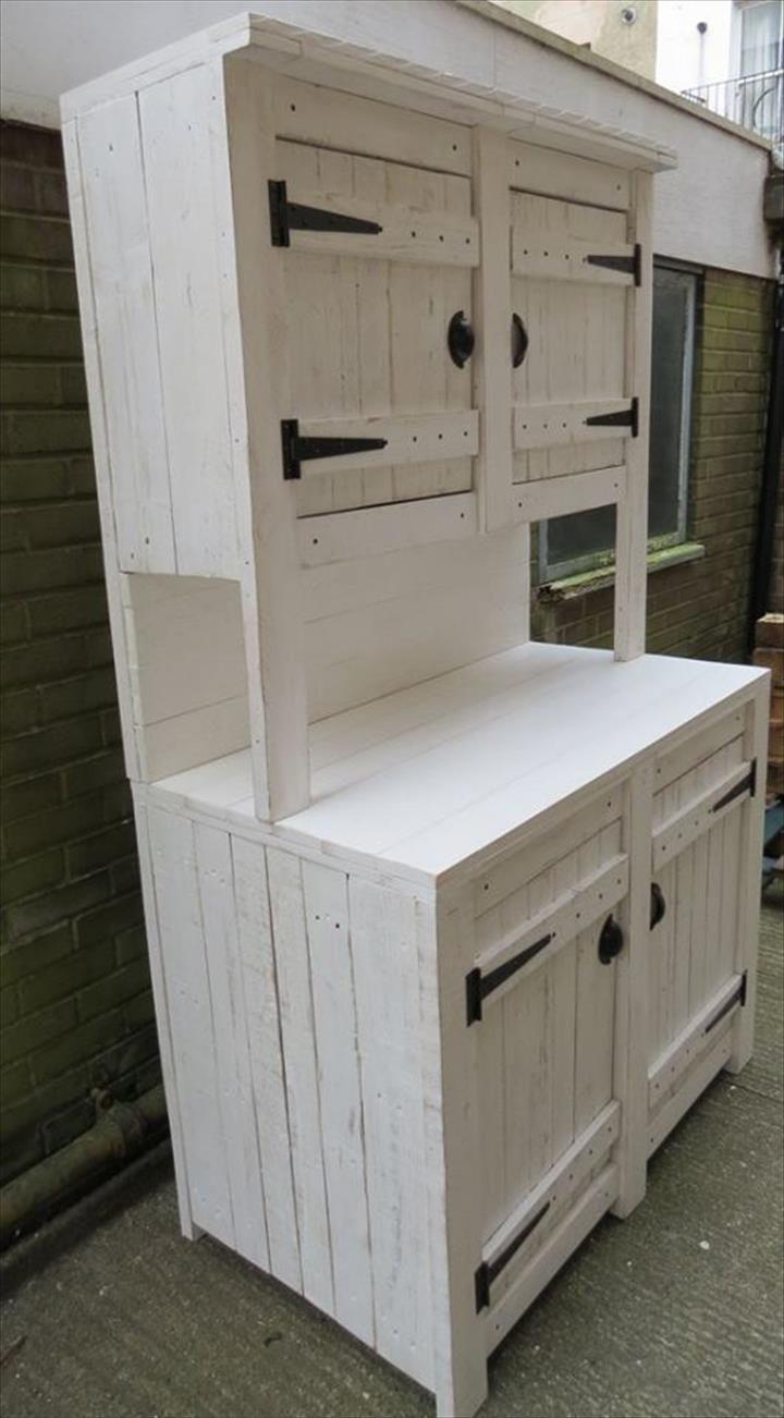 kitchen hutch cabinets Pallet Kitchen Cabinets Hutch