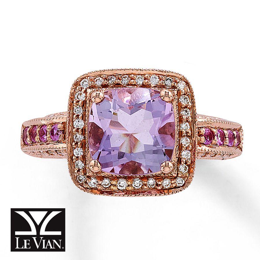 le vian wedding bands Le Vian ring cotton candy amethyst vanilla diamonds strawberry gold gorgeous