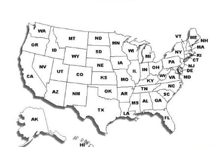 printable united states map with names | schooling