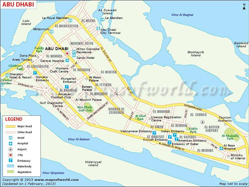 map of abu dhabi hotels