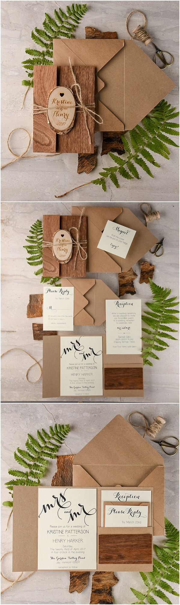 rustic wedding invitation Recycled Eco Rustic Real Wood Wedding Invitations Deer Pearl Flowers Love this especially