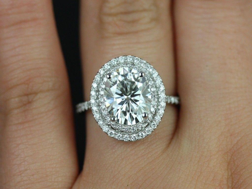 halo wedding ring Diamond Halo Engagement Rings