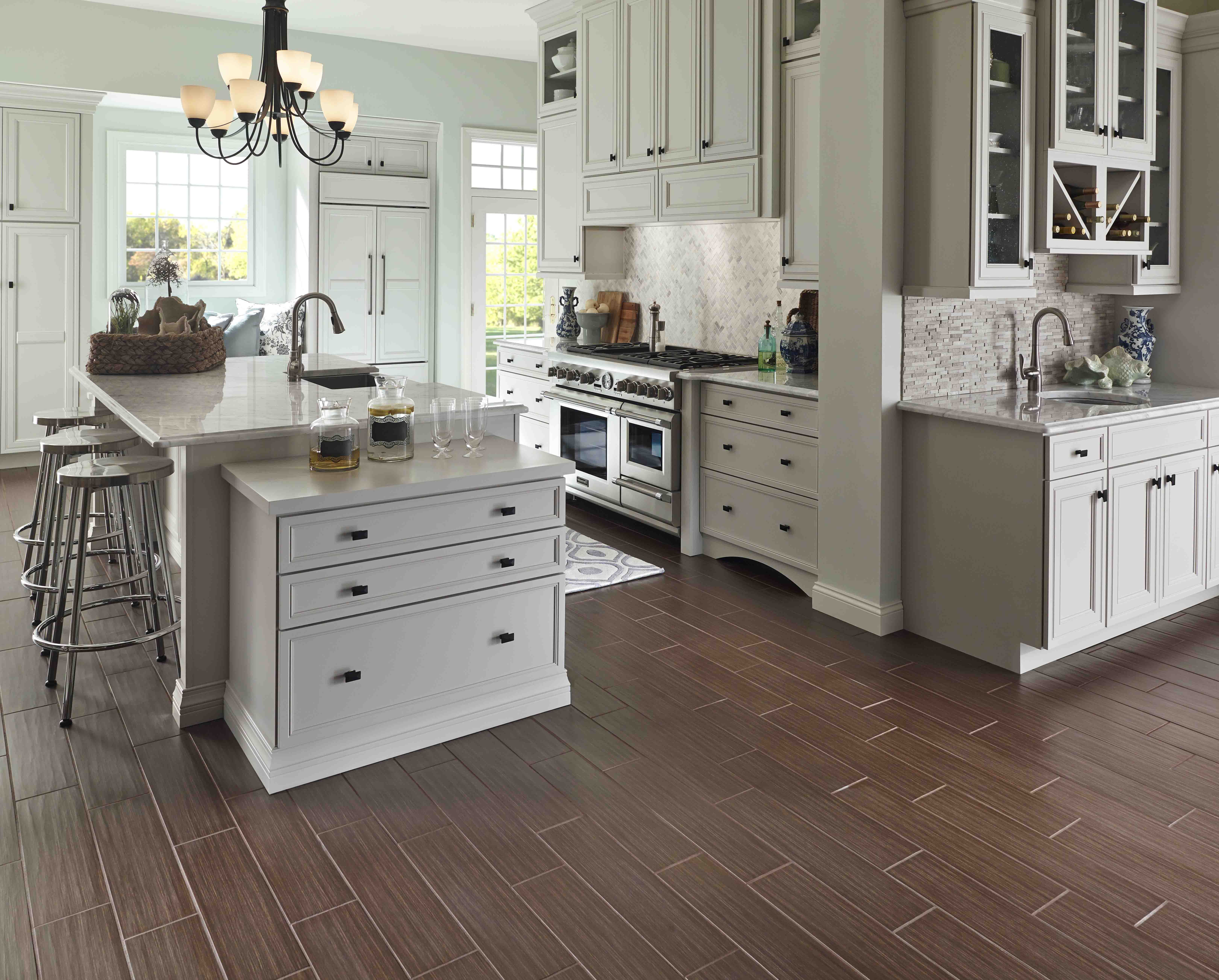 marmoleum used to recreate different flooring tren kitchen flooring trends Hot Kitchen Trends Part Cabinets Countertops