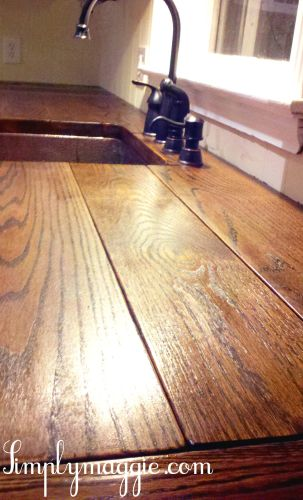 wood kitchen countertops DIY Wide Plank Butcher Block Counter Tops might do this wide plank top instead of