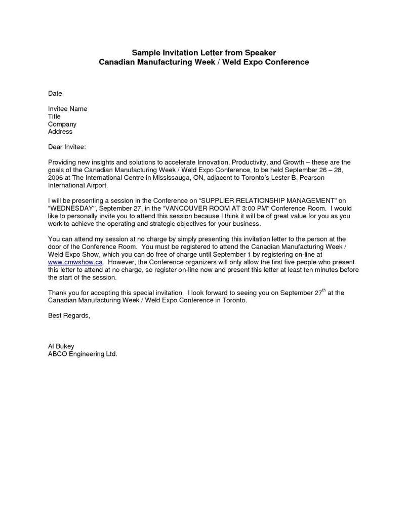Letter of invitation for speakership invitationswedd sample letter inviting guest speaker invitationjpg com altavistaventures Image collections