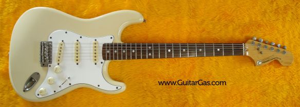Fernandes Stone Logo Strat. A 70s Fender Stratocaster copy made in the early 80s from Japan.
