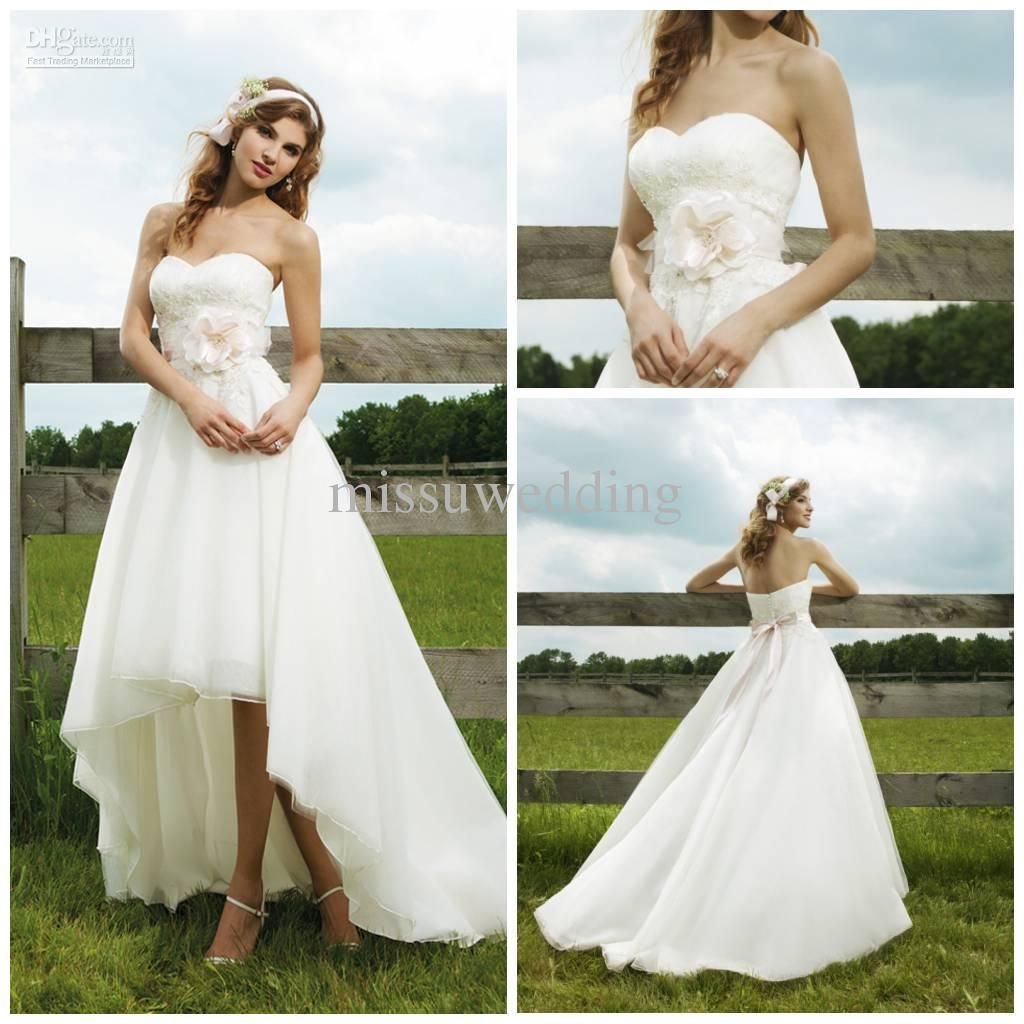 summer dress for wedding short beach wedding dress wholesale wedding dress buy best selling strapless short front long back organza lace open back