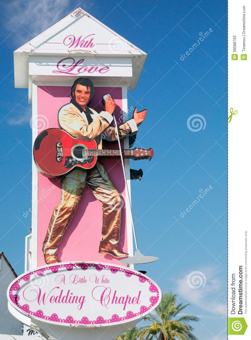 vegas wedding chapels VEGAS Wedding The Ceremony at Elvis Presley Chapel Las Vegas dreamstime com