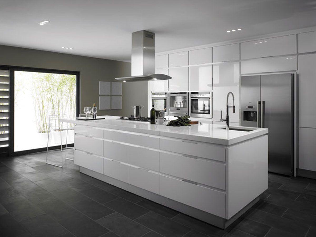 modern kitchen ideas Kitchen Awesome Grey Kitchen Ideas With Modern Kitchen Island With Granite Countertops And Kitchen Sink
