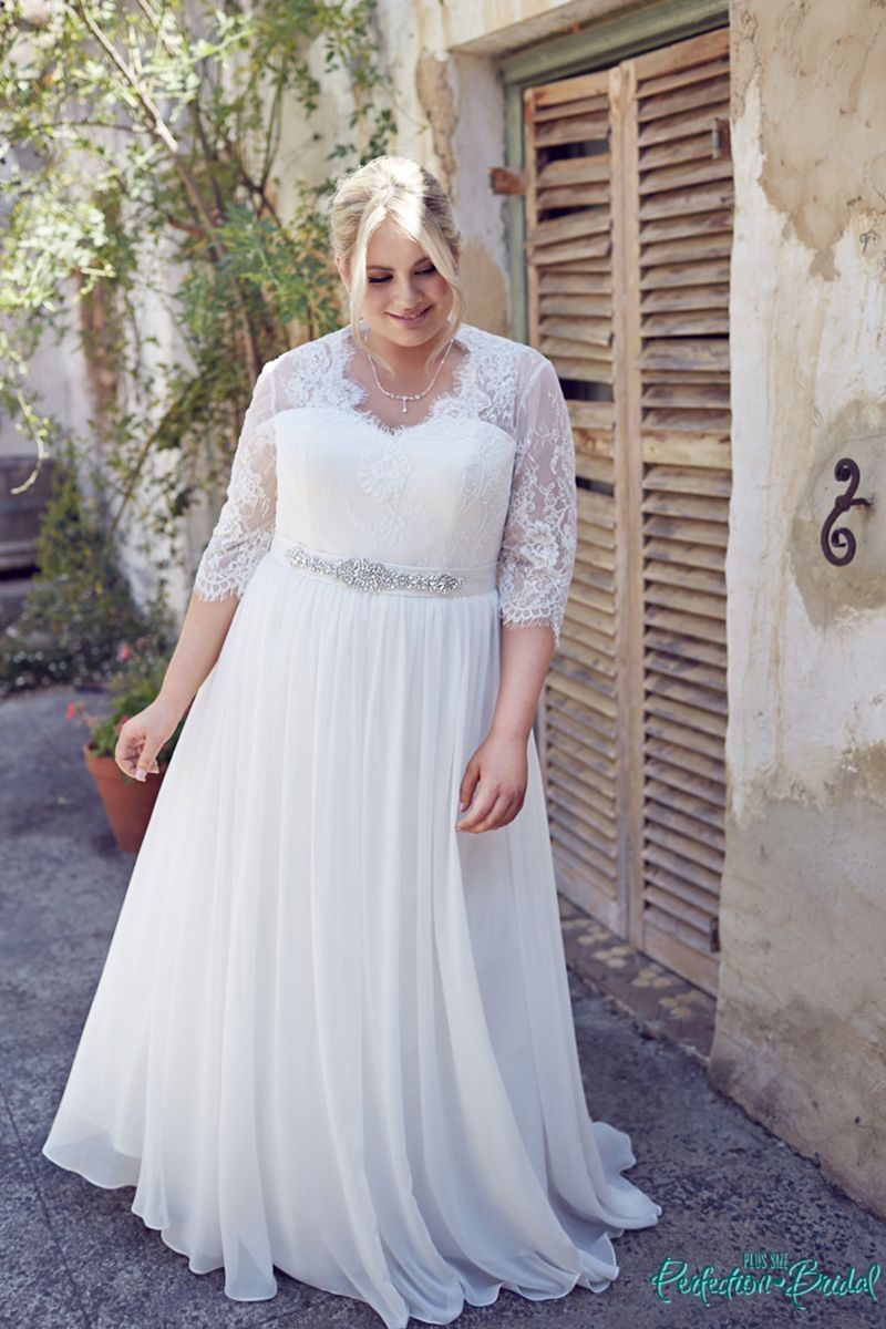 wedding dress plus size with sleeves plus size wedding dresses Wedding dress plus size with sleeves Wedding Dresses With Sleeves Elegance Plus Size Bridal Gowns