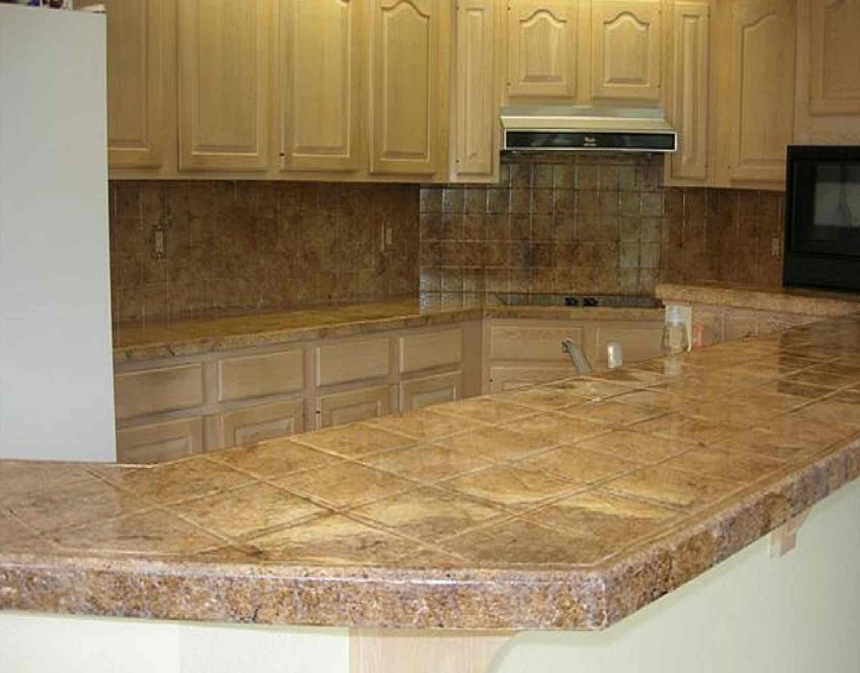 kitchen counter ideas best countertops for kitchen Tile Kitchen Countertop Design