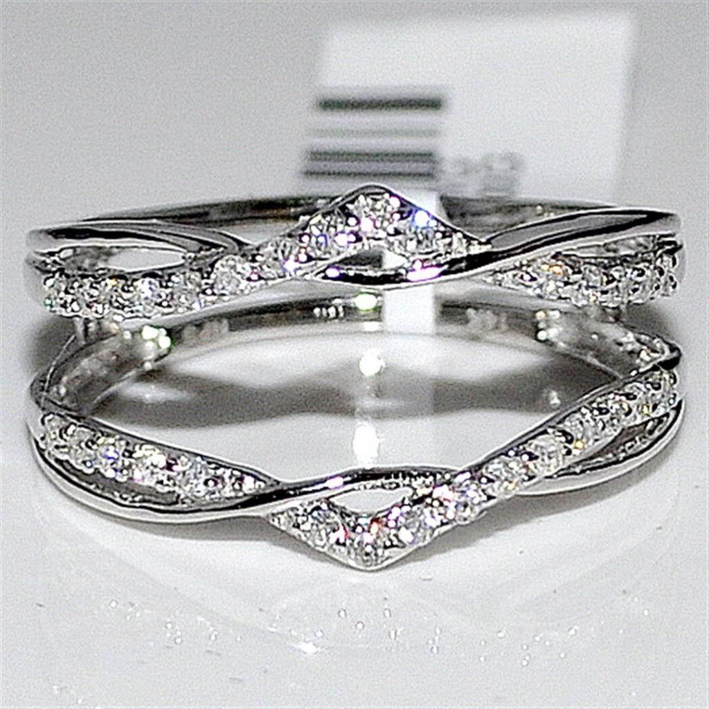 wedding wrap ring Real Diamond Jacket Enhancer Ring Guard 27ct 14K White Gold new MidwestJewellers