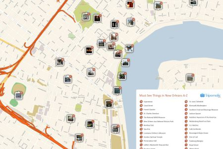 free printable map of new orleans attractions.   free