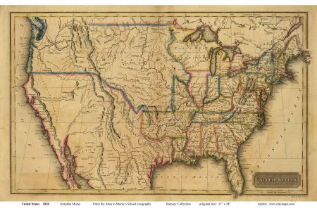 old us map from early 1800's. | maps | pinterest | genealogy